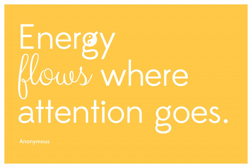 Energy flows where attention goes