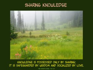 Knowledgeis possessed by sharing