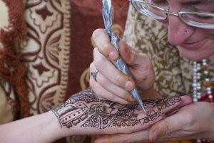 Lauren doing henna