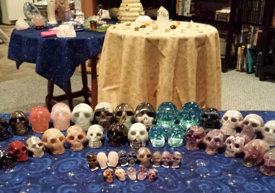 crystal skulls in stock