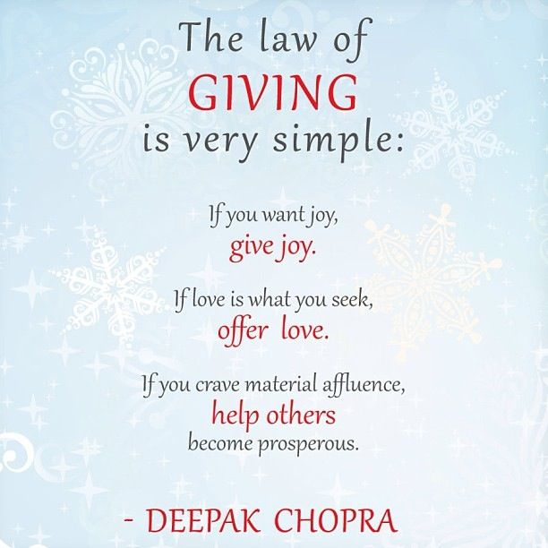 deepak Chopra giving