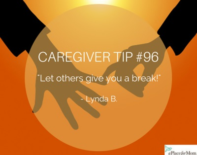 let others give you a break