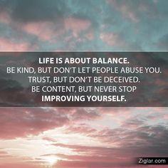 life balance sky